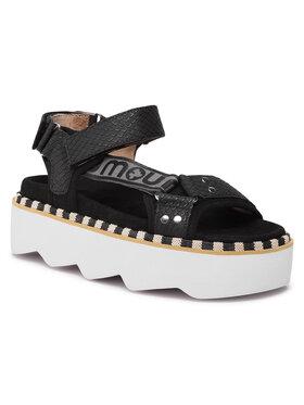 Mou Mou Sandały New Bio Sandal Side Logo SW271006N Czarny