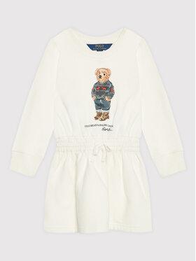 Polo Ralph Lauren Polo Ralph Lauren Sukienka codzienna Ls 312853296001 Biały Regular Fit