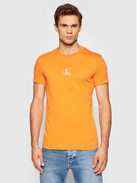 Calvin Klein Jeans Calvin Klein Jeans T-Shirt J30J317092 Orange Slim Fit