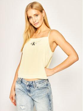 Calvin Klein Jeans Calvin Klein Jeans Felső Camisole J20J213049 Sárga Regular Fit