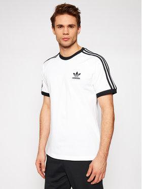 adidas adidas Marškinėliai adicolor Classics 3-Stripes GN3494 Balta Slim Fit