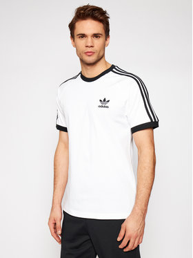 adidas adidas T-Shirt adicolor Classics 3-Stripes GN3494 Biały Slim Fit