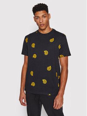 DC DC T-Shirt Unruly ADYKT03169 Czarny Regular Fit