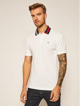 Tommy Jeans Tommy Jeans Polohemd Flag Neck DM0DM06576 Weiß Regular Fit