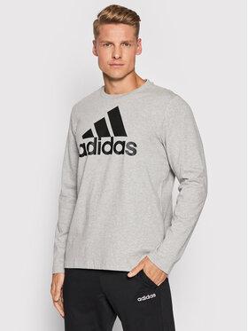 adidas adidas Marškinėliai ilgomis rankovėmis Essentials H14623 Pilka Regular Fit