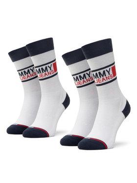 Tommy Jeans Tommy Jeans Zestaw 2 par wysokich skarpet unisex 100000398 Biały
