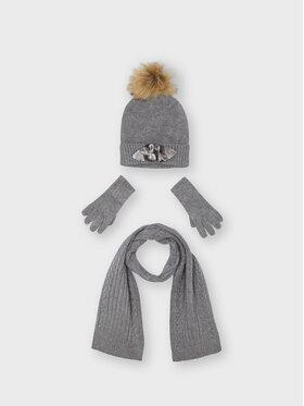 Mayoral Mayoral Комплект шапка, шал и ръкавици 10154 Сив