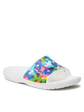 Crocs Crocs Mules / sandales de bain Classic Bubble Block Slide 207408 Multicolore