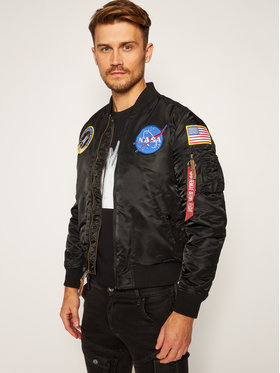 Alpha Industries Alpha Industries Geacă bomber Nasa 166107 Negru Regular Fit