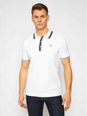 Guess Guess Тениска с яка и копчета M1RP60 K7O61 Бял Slim Fit