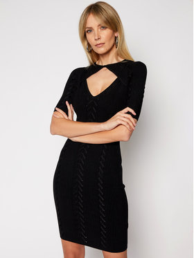 Guess Guess Sukienka dzianinowa W0RK64 R2BF3 Czarny Slim Fit