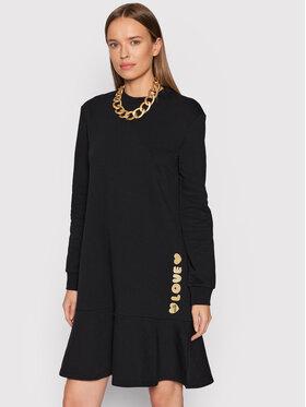 LOVE MOSCHINO LOVE MOSCHINO Плетена рокля W5C4401M 4055 Черен Regular Fit