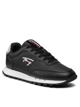 Tommy Jeans Tommy Jeans Sneakersy Leather Runner EN0EN01512 Czarny