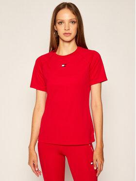 Tommy Sport Tommy Sport Koszulka techniczna Flag Logo S10S100638 Czerwony Regular Fit
