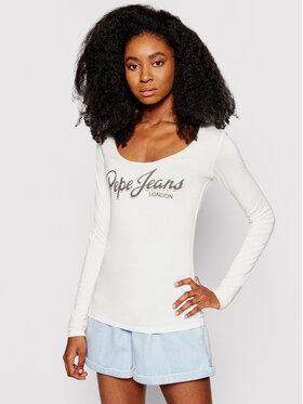 Pepe Jeans Pepe Jeans Bluzka Sue PL504710 Biały Regular Fit