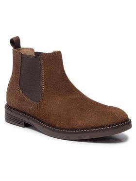 Clarks Clarks Kotníková obuv s elastickým prvkem Pulson Up 261471427 Hnědá