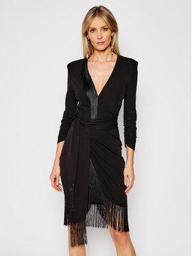 TwinSet TwinSet Koktejlové šaty 202TP2402 Černá Regular Fit