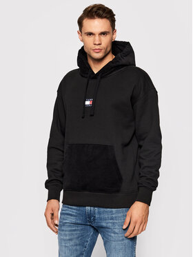 Tommy Jeans Tommy Jeans Sweatshirt Corduroy Sweat Hoodie DM0DM11798 Schwarz Regular Fit
