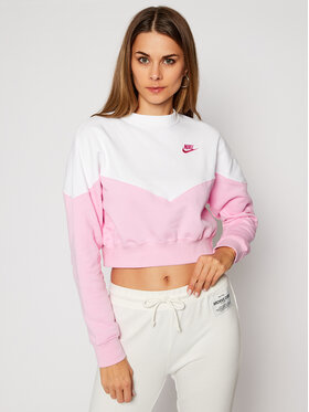 NIKE NIKE Mikina Sportswear Heritage AR2505 Ružová Loose Fit