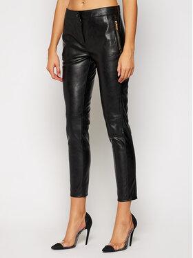 Trussardi Jeans Trussardi Jeans Kožené kalhoty 56P00229 Černá Regular Fit