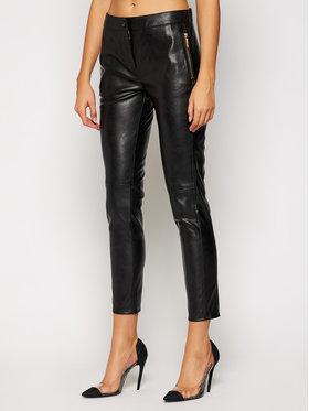 Trussardi Jeans Trussardi Jeans Kožené nohavice 56P00229 Čierna Regular Fit
