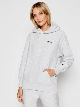 Champion Champion Sweatshirt Small Script Logo Reverse Weave Hoodie 113150 Gris Regular Fit