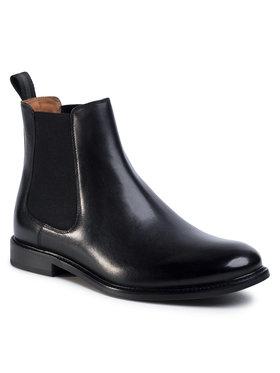 Gino Rossi Gino Rossi Kotníková obuv s elastickým prvkem Chuck MSU350-870-0722-9900-1 Černá