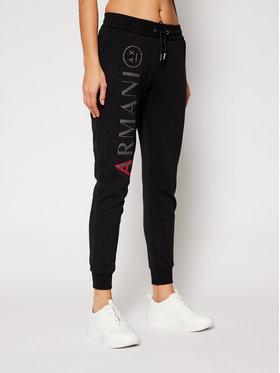 Armani Exchange Armani Exchange Spodnie dresowe 6HYP76 YJ89Z 1200 Czarny Regular Fit