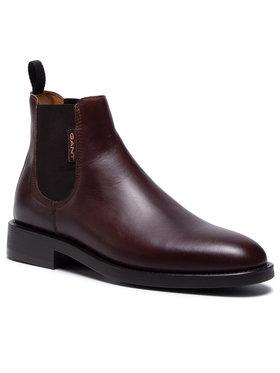 Gant Gant Kotníková obuv s elastickým prvkem Brockwill 21651009 Bordó