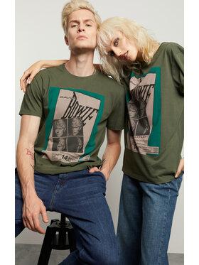 Vistula Vistula T-Shirt Unisex David Bowie 3 XA1337 Zielony Regular Fit