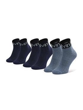 Calvin Klein Calvin Klein Комплект 3 чифта дълги чорапи мъжки 701218722 r.OS Тъмносин