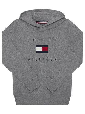 TOMMY HILFIGER TOMMY HILFIGER Mikina Logo KB0KB06142 D Šedá Regular Fit