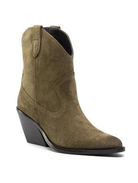 Bronx Bronx Členková obuv 34155-CC Zelená