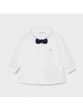 Mayoral Mayoral Комплект риза и папионка 1175 Бял Regular Fit