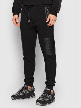Les Hommes Les Hommes Παντελόνι φόρμας LLJ101758L Μαύρο Regular Fit