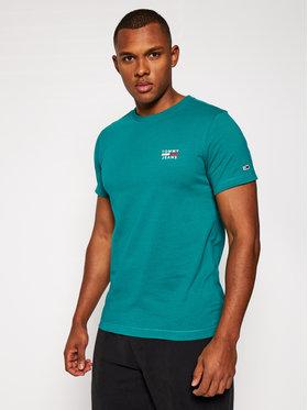 Tommy Jeans Tommy Jeans T-shirt Tjm Chest Logo Tee DM0DM07472 Verde Regular Fit