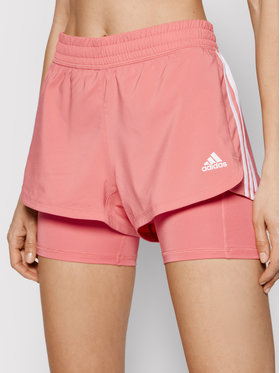 adidas adidas Pantaloni scurți sport Pacer 3-Stripes Woven Two-in-One GM3037 Roz Regular Fit