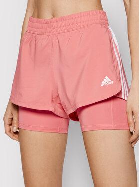 adidas adidas Szorty sportowe Pacer 3-Stripes Woven Two-in-One GM3037 Różowy Regular Fit