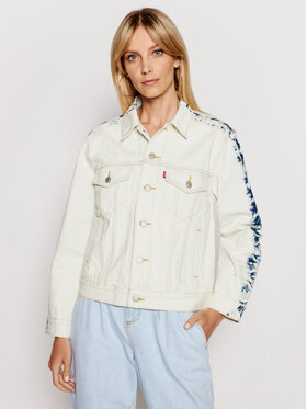 Levi's® Levi's® Kurtka jeansowa Ex-Boyfriend Trucker 29944-0147 Biały Relaxed Fit