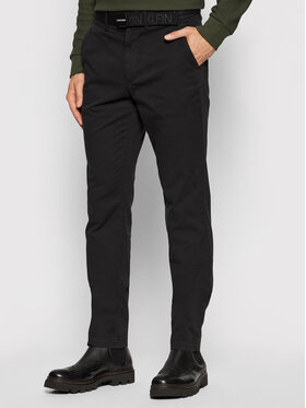 Calvin Klein Calvin Klein Chinosy Garment Dye K10K107785 Czarny Slim Fit