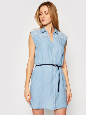 Pepe Jeans Pepe Jeans Sukienka koszulowa Benny PL952820 Niebieski Regular Fit