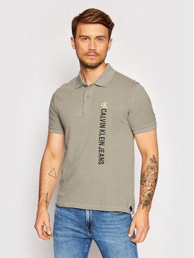 Calvin Klein Jeans Calvin Klein Jeans Тениска с яка и копчета J30J317101 Сив Regular Fit