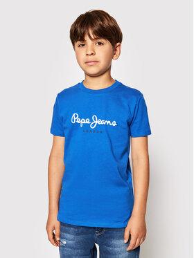 Pepe Jeans Pepe Jeans T-Shirt Art PB501228 Niebieski Regular Fit