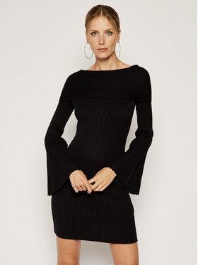 My Twin Úpletové šaty 192MP3011 Čierna Slim Fit