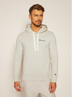 Champion Champion Bluza Small Script Logo Fleece 214780 Beżowy Comfort Fit