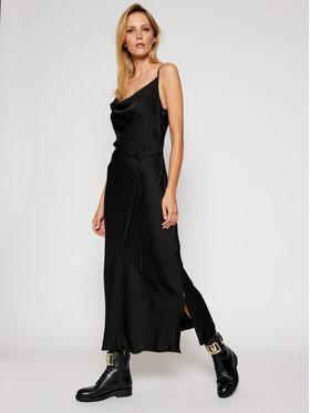 Calvin Klein Calvin Klein Koktélruha Scoop Nk Midi Cami K20K202292 Fekete Regular Fit