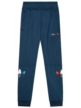 adidas adidas Pantaloni trening adicolor GN7444 Bleumarin Regular Fit