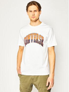 Converse Converse T-shirt Twisted Varsity Graphic 10018383-A01 Bijela Regular Fit