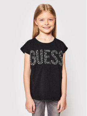 Guess Guess T-shirt J1RI34 K6YW1 Crna Regular Fit
