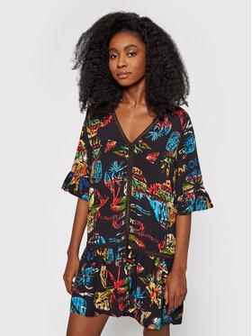 Desigual Desigual Letné šaty Lombok 21SWMW06 Čierna Relaxed Fit